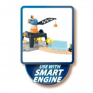 Brio - 33962 - Grue de chargement de conteneurs smart tech - Thème Transport de marchandises - Age 3 ans + (433288)
