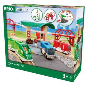 Brio - 33627 - Circuit gare et connexion routière - Thème Voyageur - Age 3 ans + (433308)