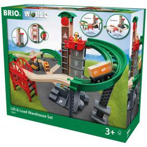 Brio - 33887 - Grand circuit plateforme multimodale - Thème Transport de marchandises - Age 3 ans + (433310)