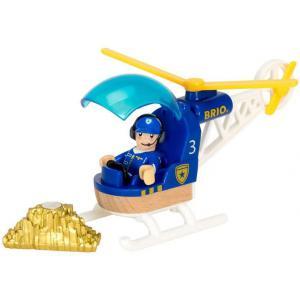 Brio - 33828 - Hélicoptère de police - Thème Pompier police - Age 3 ans + (433312)
