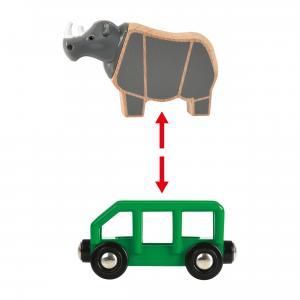 Brio - 33964 - Train rhino safari - Thème Exploration - Age 3 ans + (433318)
