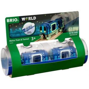 Brio - 33970 - Metro et tunnel phosphorescents - Thème Voyageur - Age 3 ans + (433322)