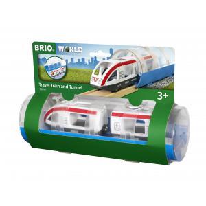 Brio - 33890 - Train de voyageurs et tunnel - Thème Voyageur - Age 3 ans + (433324)
