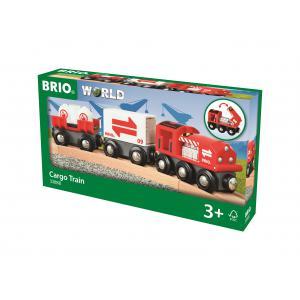 Brio - 33888 - Train citerne avec chargement - Thème Transport de marchandises - Age 3 ans + (433330)
