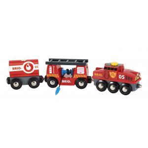 Brio - 33844 - Train des pompiers - Thème Pompier police - Age 3 ans + (433332)