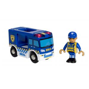 Brio - 33825 - Camion de police son et lumière - Thème Pompier police - Age 3 ans + (433334)