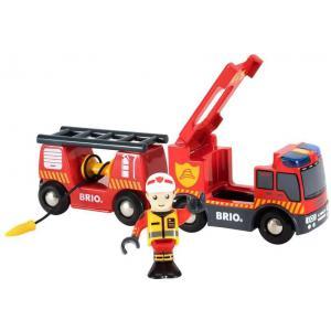 Brio - 33811 - Camion de pompiers son et lumière - Thème Pompier police - Age 3 ans + (433336)