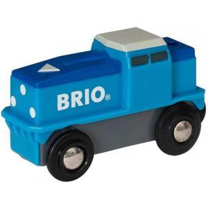 Brio - 33130 - Locomotive de fret bleue a pile - Thème Transport de marchandises - Age 3 ans + (433340)