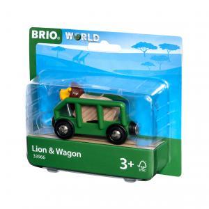 Brio - 33966 - Wagon et lion - Thème Exploration - Age 3 ans + (433348)