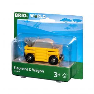 Brio - 33969 - Wagon et éléphant - Thème Exploration - Age 3 ans + (433354)