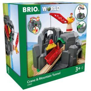 Brio - 33889 - Plateforme grue et tunnels multifonctions - Thème Transport de marchandises - Age 3 ans + (433390)