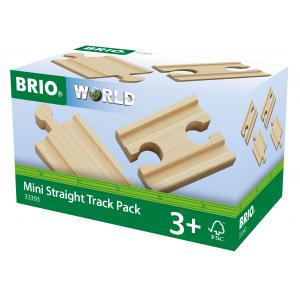 Brio - 33393 - Lot 4 mini rails double male / double femelle 54 mm - Age 3 ans + (433410)