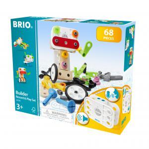 Brio - 34592 - Coffret builder et enregistreur de voix 68 pièces - Age 3 ans + (433434)