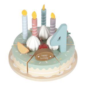 Little-dutch - LD4474 - LD Gâteau d'anniversaire en bois – 26 pcs. (434492)