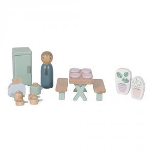 Little-dutch - LD4476 - LD Maison de poupée en bois - série de jeux Cuisine – 19 pcs. (434516)