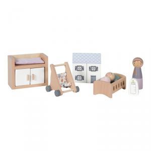 Little-dutch - LD4477 - LD Maison de poupée - série de jeux Chambre Bébé – 11 pcs. (434518)