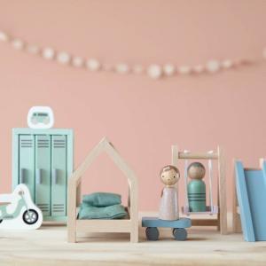 Little-dutch - LD4478 - LD Maison de poupée en bois - série de jeux Chambre d'Enfant – 12 pcs. (434520)