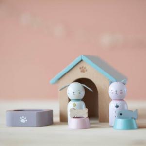 Little-dutch - LD4475 - LD Maison de poupée en bois - série de jeux Animaux domestiques – 8 pcs. (434522)