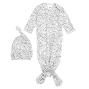 Aden and Anais - AGHK20004 - Coffret cadeau bébé grenouillère nouée et bonnet Zèbre (436426)