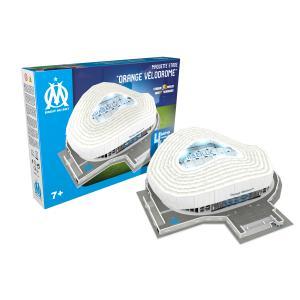Megableu editions - 678266 - Puzzle-Stade 3D Orange Velodrome (Olympique DE Marseille) avec LED (436450)