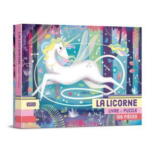 Sassi - 302792 - Livre et puzzle de 100 pièces - la licorne - âge conseillé : 5 ans (436512)