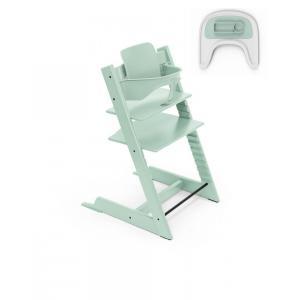Stokke - BU343 - chaise Tripp trapp, baby set, tablette, et plateau Soft mint (dès 6 mois) (437126)