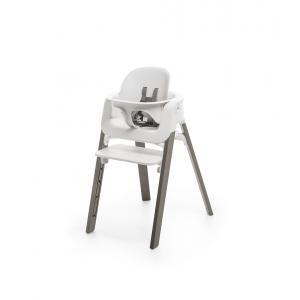 Stokke - BU346 - Stokke chaise Steps hêtre gris brume babyset blanc (450866)