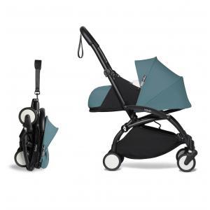 Babyzen - BU671 - Pousette compacte YOYO2 et ombrelle aqua noir 0+ (451394)