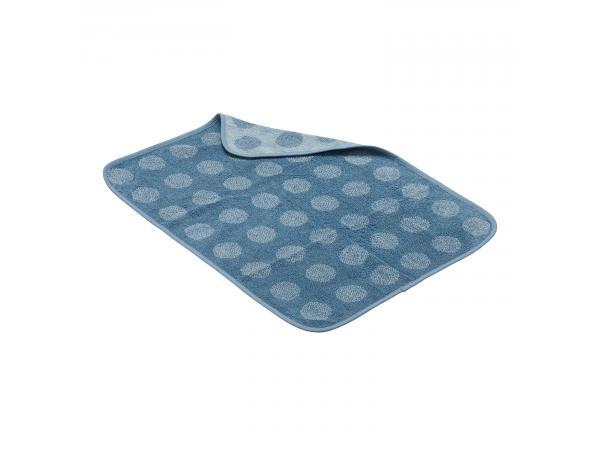 Serviette matty en coton bio, bleu pastel