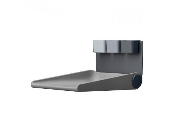 Table à langer murale wally, gris