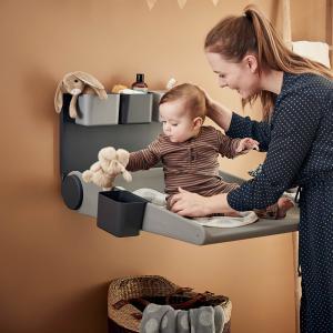 Leander - 550010-72 - Table à langer murale WALLY, Gris (452236)