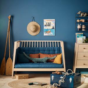 Leander - 700818-65 - Set de conversion Sofa Linea/Luna 120, Bleu Nuit (452288)
