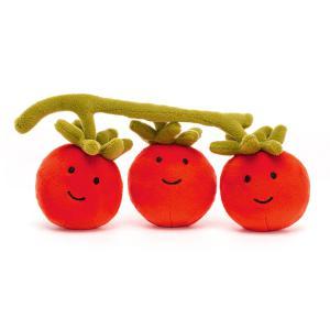 Jellycat - VV6T - Peluche tomate Vivacious Vegetable - l = 21 cm x H =8 cm (452428)