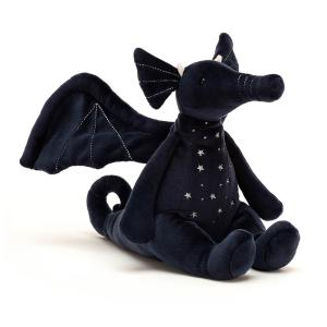 Jellycat - DRAG3M - Peluche dragon Moonlight - L = 27 cm x l = 13 cm x H =19 cm (452648)