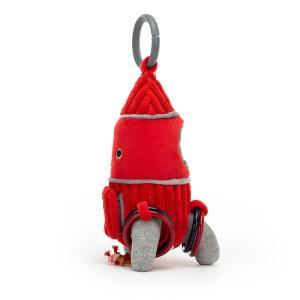 Jellycat - COSAT2R - Anneau de jeu avec peluche fusée Cosmopop - l = 9 cm x H =22 cm (452828)