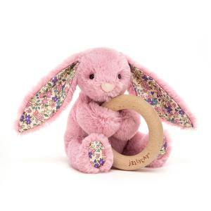 Jellycat - BL4WBTP - Blossom Tulip Bunny Wooden Ring Toy - 13 cm (452850)