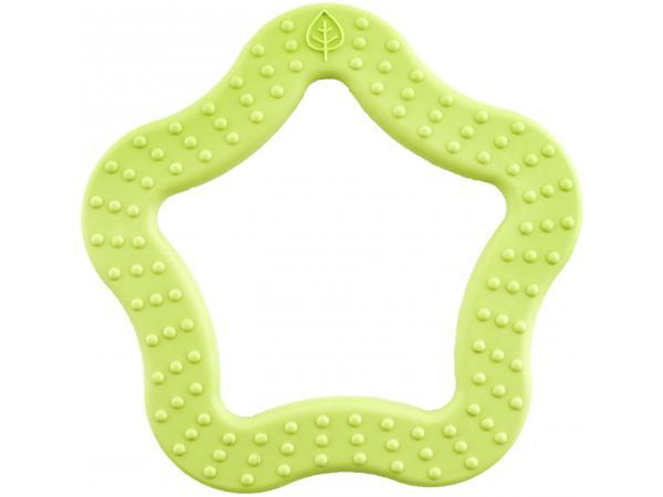 Anneau de dentition 100% naturel etoile verte