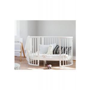 Stokke - BU354 - Stokke Sleepi lit évolutif bébé blanc, matelas et drap housse blanc (452997)
