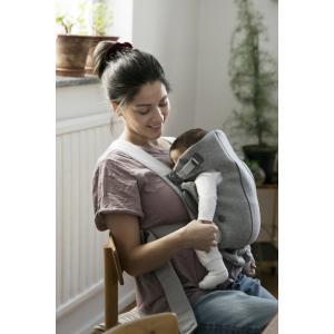Babybjorn - BU010 - Pack Premium nouveau-né Gris clair, Jersey 3D - berceau évolutif, transat et porte-bébé (453029)