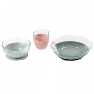 Beaba - 913487 - Coffret repas verre Eucalyptus (453762)