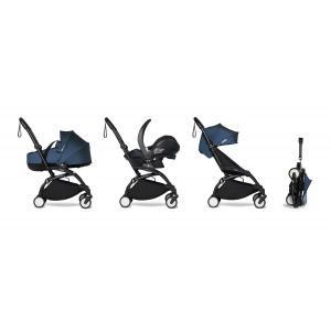 Babyzen - BU877 - Poussette tout-en-1 YOYO2 cadre noir siège auto nacelle et 6+ blue marine (454006)