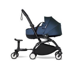 Babyzen - BU886 - Poussette YOYO2 nacelle bleu marine cadre noir et planche à roulettes (454010)