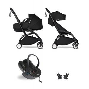Babyzen - BU872 - Poussette tout-en-1 YOYO2 cadre noir siège auto nacelle et 6+ noir (454076)