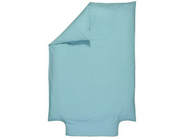 Housse de couette bébé coton bio - 100x140 cm - coloris turquoise - été ou hiver - coton certifié