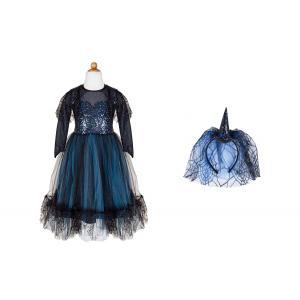 Great Pretenders - 32987 - Luna la sorcière de minuit, robe et coiffe, taille EU 116-128 - Ages 6-8 years (454652)
