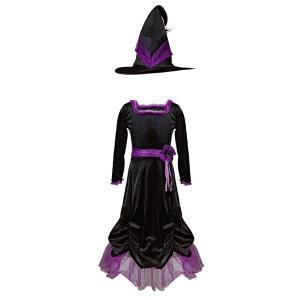 Great Pretenders - 33093 - Vera la sorcière velours, robe et chapeau , taille EU 92-104 - Ages 2-4 years (454656)