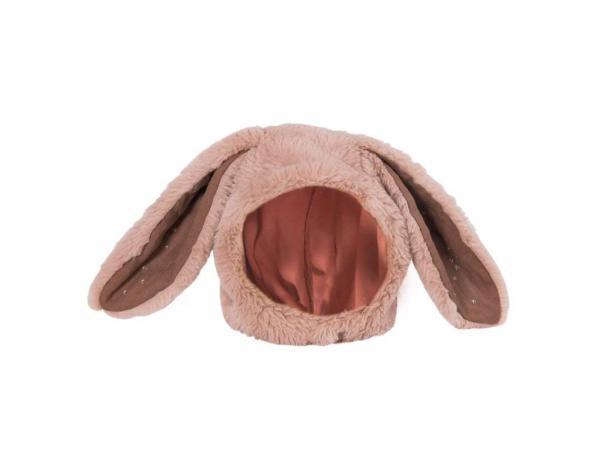 Bonnet lapin rose rendez-vous chemin du loup 6/12 m