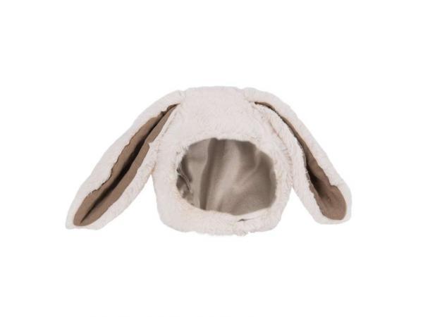 Bonnet lapin blanc rendez-vous chemin du loup 6/12 m