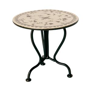 Maileg - 11-0113-00 - Vintage tea table, Micro - Anthracite - Hauteur : 7,5 cm (455106)