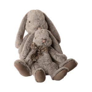 Maileg - 16-0991-01 - Fluffy bunny, X-Large - Grey - Hauteur : 43 cm (455394)